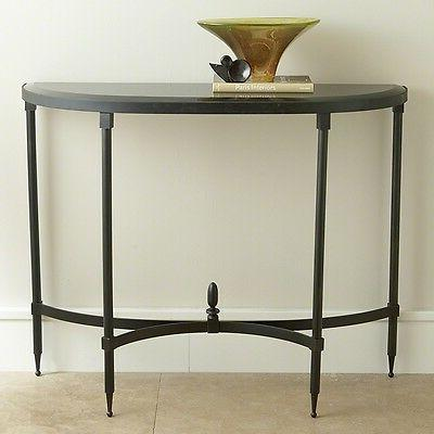 Tremendous 42 Wide Console Table Fluted Iron Base Half Gamerscity Chair Design For Home Gamerscityorg
