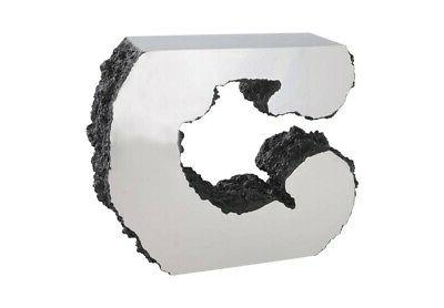 43 l console table lava stone concrete
