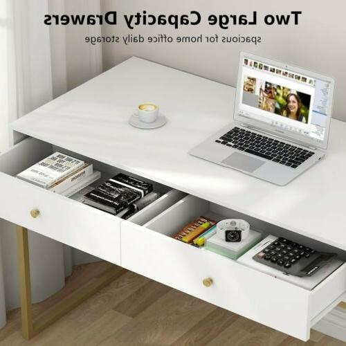 Modern Home Desk Storage Drawers White Console Table