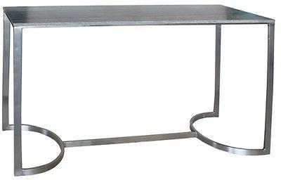 """48"""" L Console Table Beata Table Gray Marble Iron Base In Ant"""
