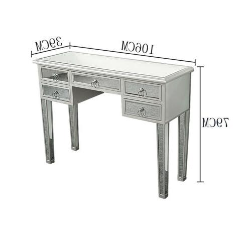 Modern Desk Console Table Drawer