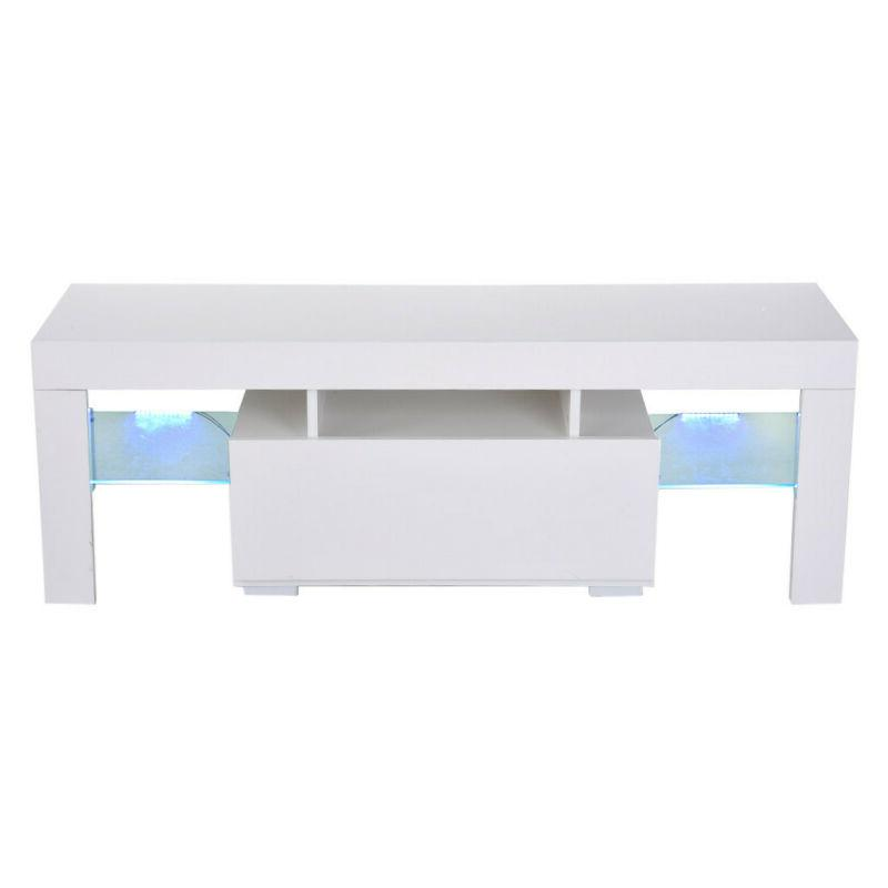 Modern White 51'' TV Stand LED Console