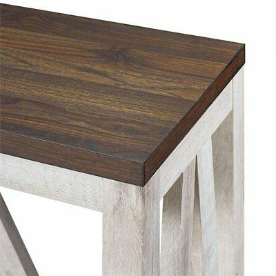 "52"" Rustic Entry Console Table - Walnut"