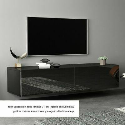 """55"""" High Gloss TV Stand Cabinet Console Table Shelve 2"""