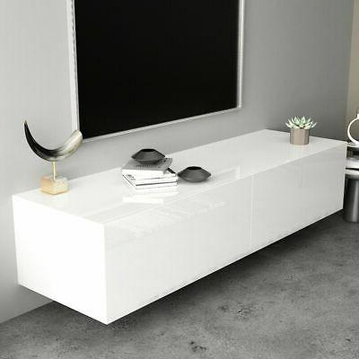 """55"""" High Gloss TV Stand Cabinet Console Furniture"""