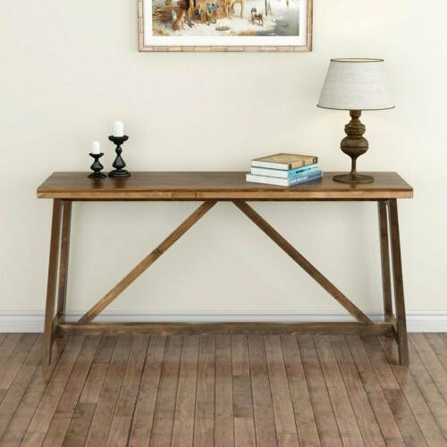 Tribesigns 59''Extra Console Wood Table