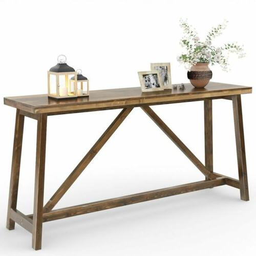 Tribesigns Console Table Wood Entry Table