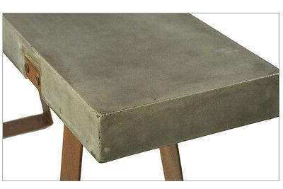 Rustic Concrete Steel Base