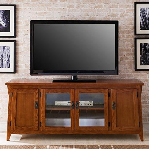 "Leick 82560 Canted Side Mission Oak 60"" Four"