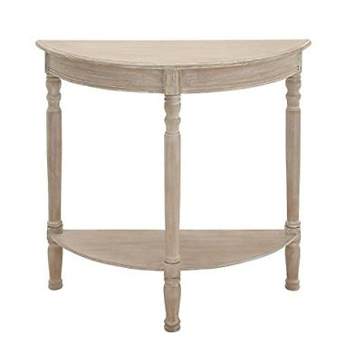 96329 wood 1 2 round console table