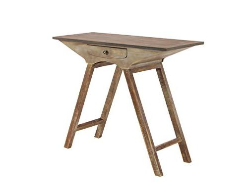 98200 rustic wooden console table