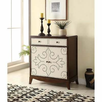 Acme Furniture 90192 Onirie Console Table, Fabric & Dark Esp