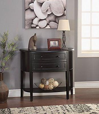 Acme Furniture 90200 Poshire Console Table, Black NEW