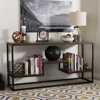 Baxton Studio Console Table in Black and Brown