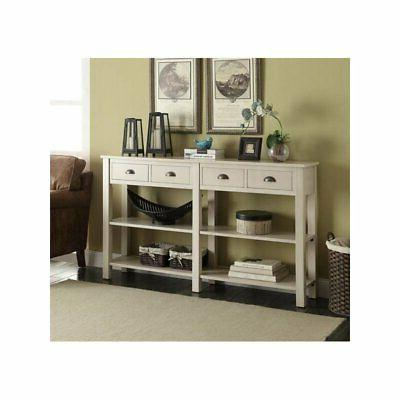Bowery Console Table Cream