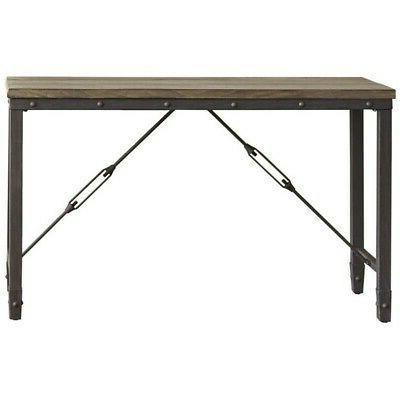 Bowery Hill Industrial Console Table in Antique Tobacco