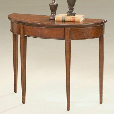 Butler Demilune Console Table 30.5H in. - Plantation Cherry