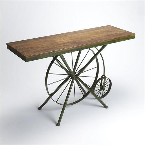 Butler Specialty Bicycle Chic Console Table in Multi Color