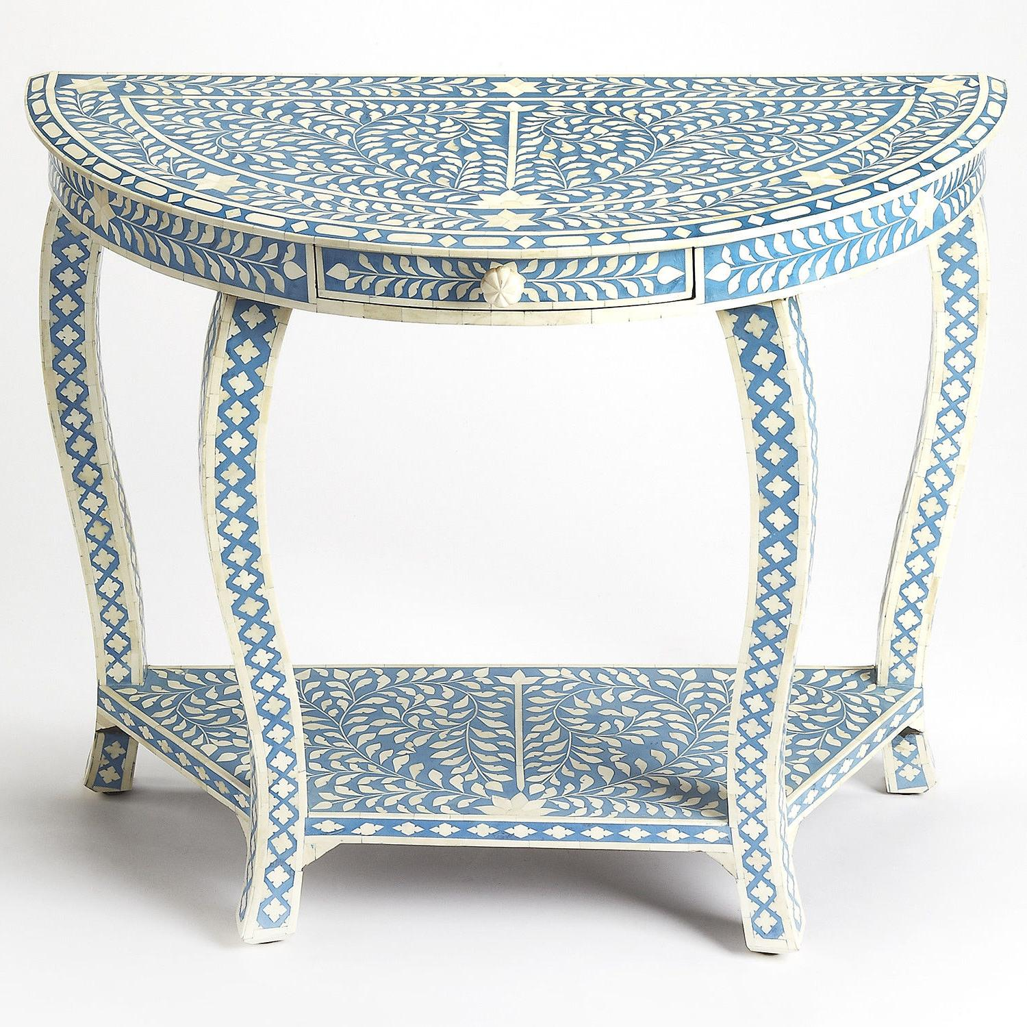 Butler Specialty Darrieux Accent / Console Table Blue Bone I