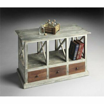 Butler Whitaker Gray Console Table, Artifacts - 2369290
