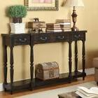 Coast to Coast Apperson Black 4 Drawer Console Table