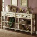 Coast to Coast Weathered White 4 Drawer Console Table