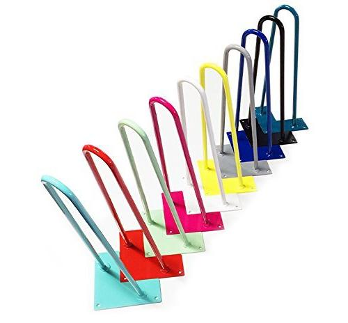 Colored Hairpin Legs for Tables, Desks, Dressers, Buffets, C