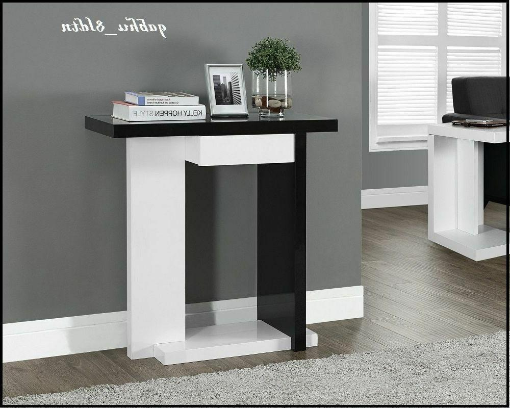 Console Table Shelf and Drawer Wood Display