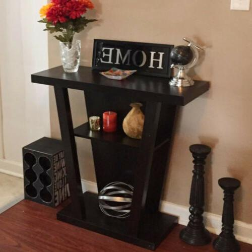 Console Accent Side Stand Way Hallway Display Shelf