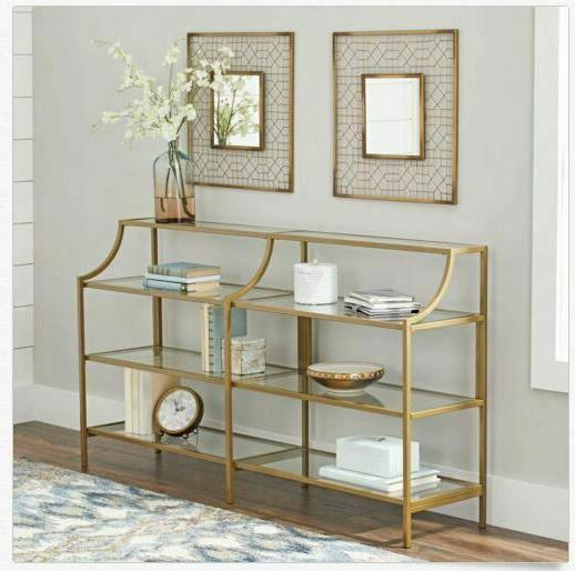 Console Table Display Entryway Large Double Versatile Metal