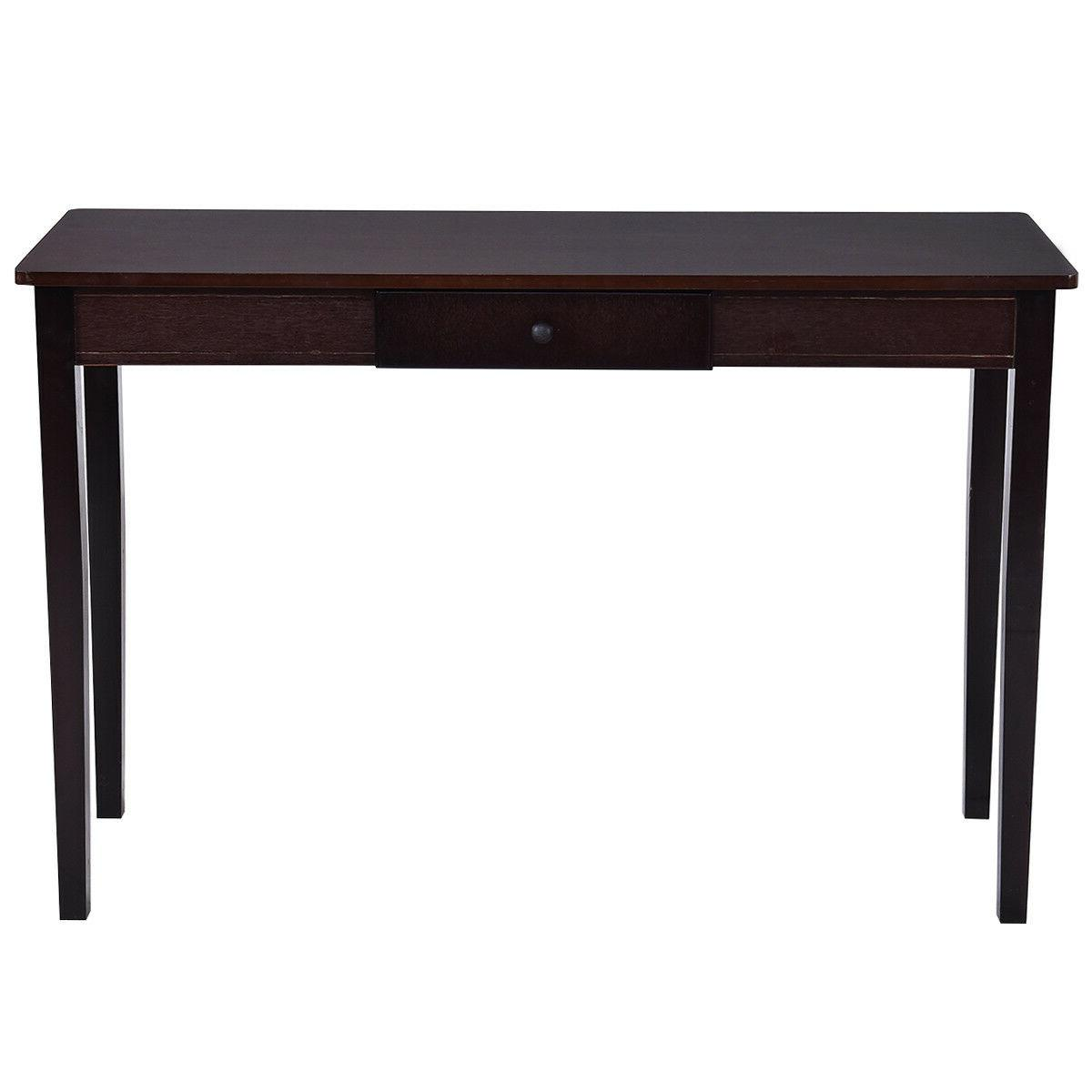 Console Entryway Side Table Drawer Wood