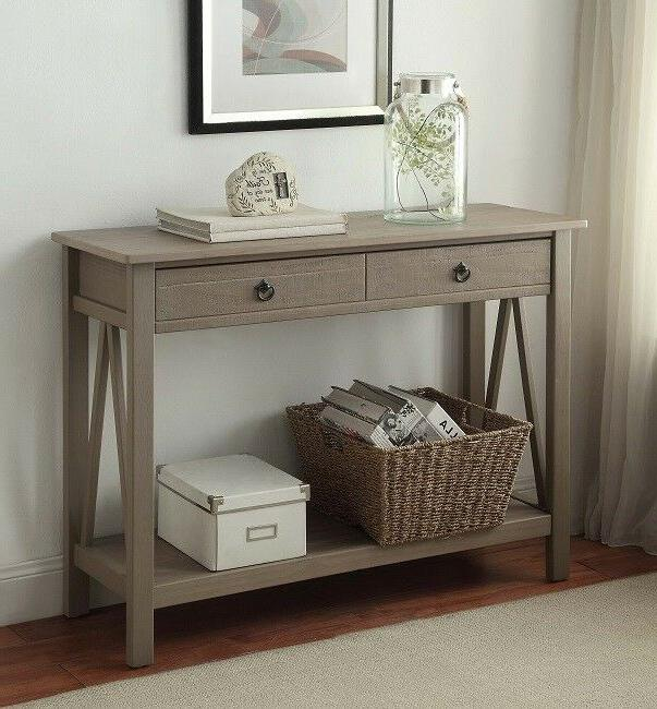 Console Table Entryway Organizer Storage Sofa Tables Front E