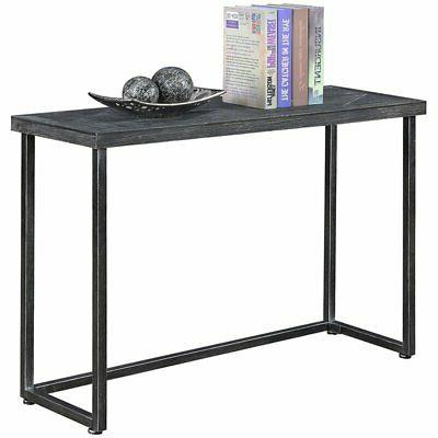Convenience Concepts Laredo Parquet Console Table in Black