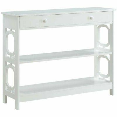 Convenience Concepts Omega Storage Console Table in White