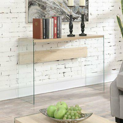 Convenience Concepts Soho Rectangular Glass Sided Console Ta