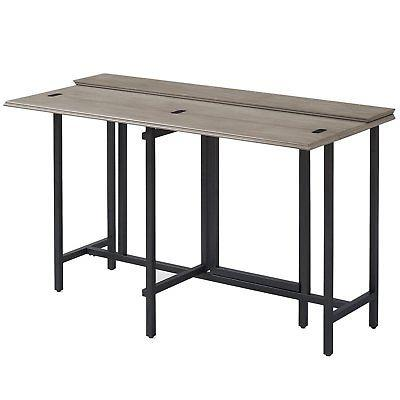 Convertible Dining Table Wood Contemporary Expandable Home C