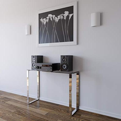 Cortesi Remi Glass Console with Chrome