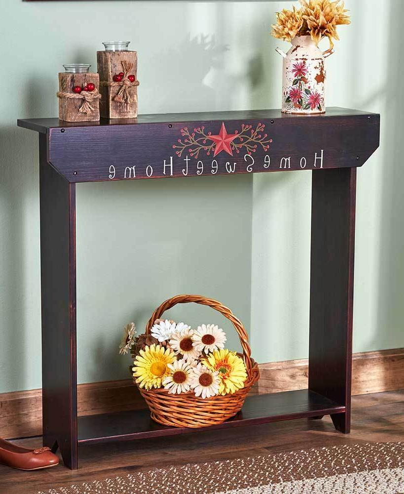 Slim Country Console Table Home Sweet - Family Laugh Love
