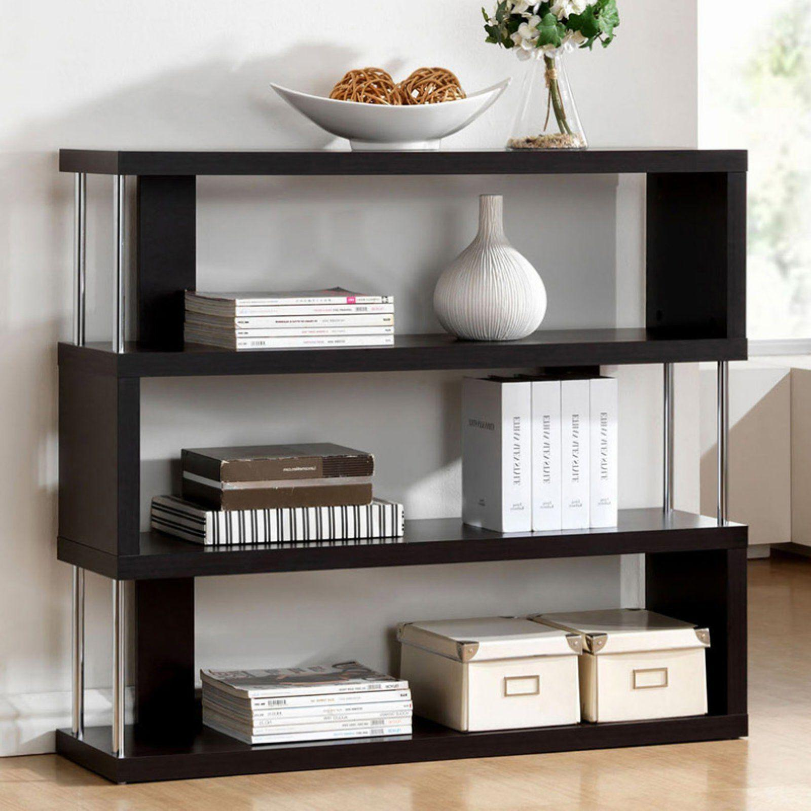 Dark Brown Console Table Wood Modern Accent Tables Storage S
