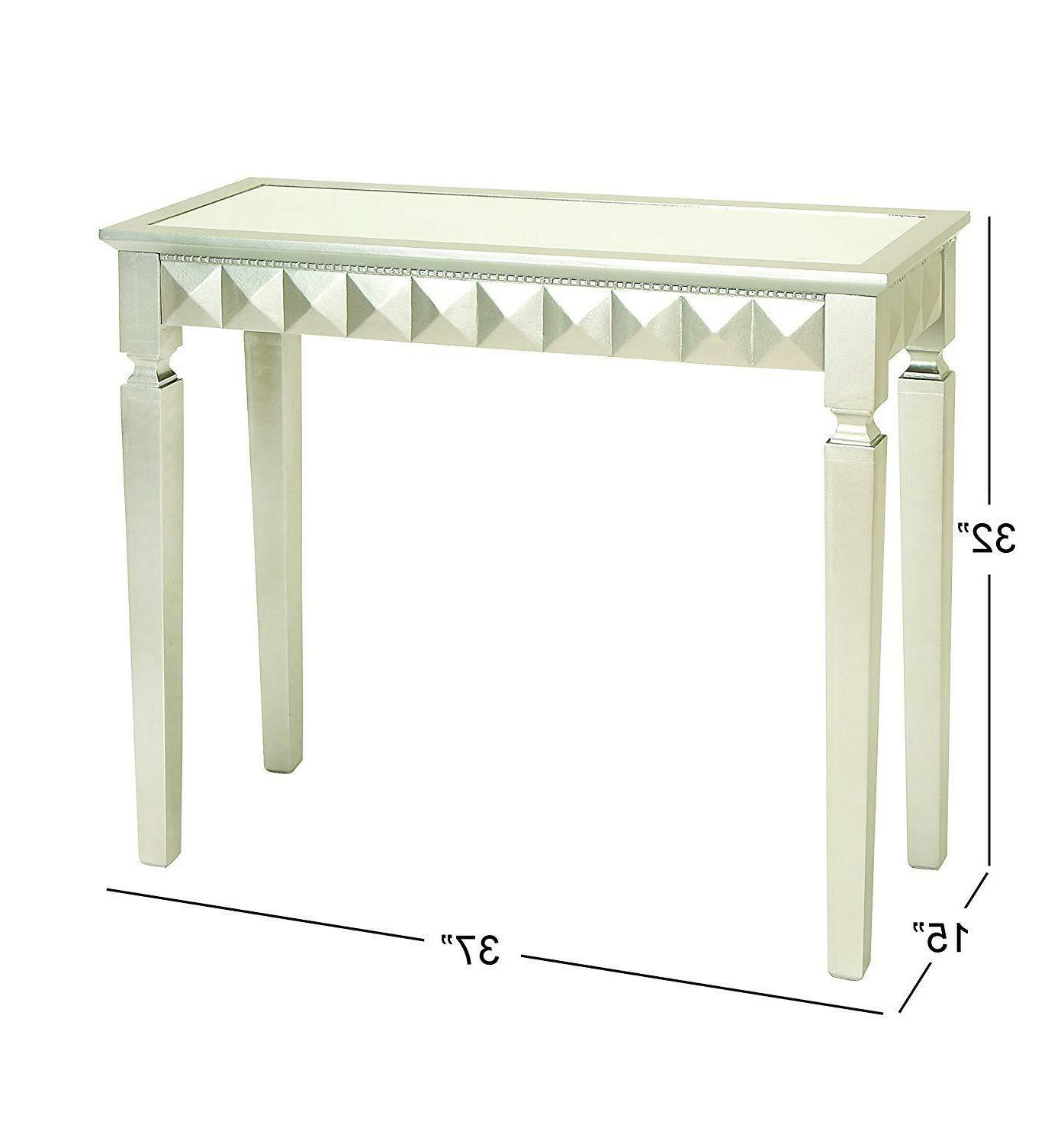 Console Table, 37 32-Inch, Silver