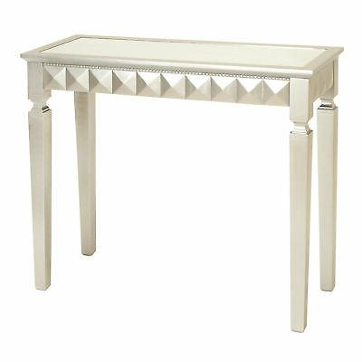 Deco 79 Wood Mirror Console Table, 37 by 32-Inch, Silver