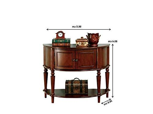 Entry Table with Curved Front Inlay Brown