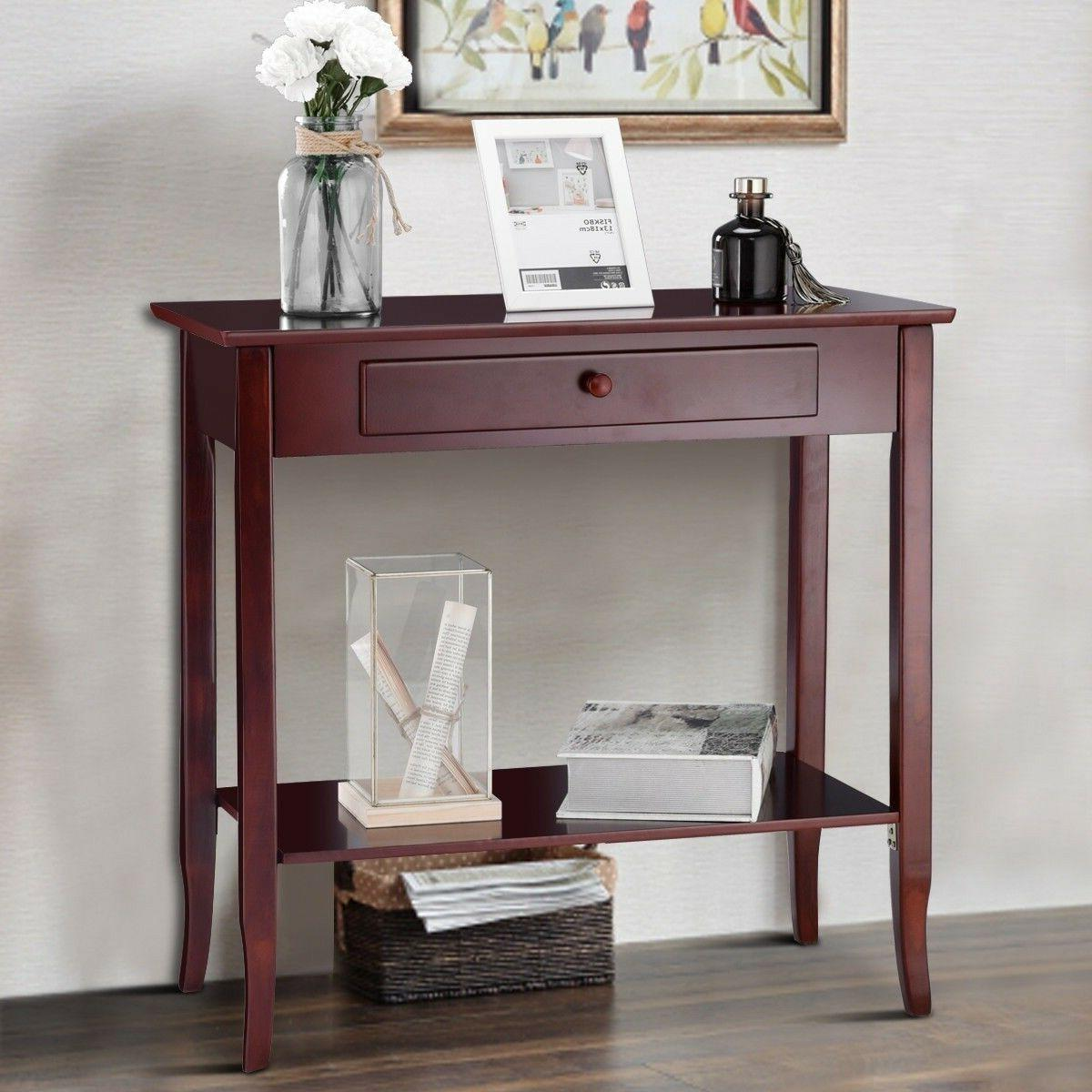 Entryway Console Table Hallway Living Room ClassIc Style Fur