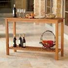 Eucalyptus Wood Console Table Natural Finish Outdoor Patio F