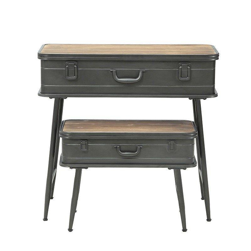 Farmhouse Table Console Sofa Accent Trunk Industrial Rustic