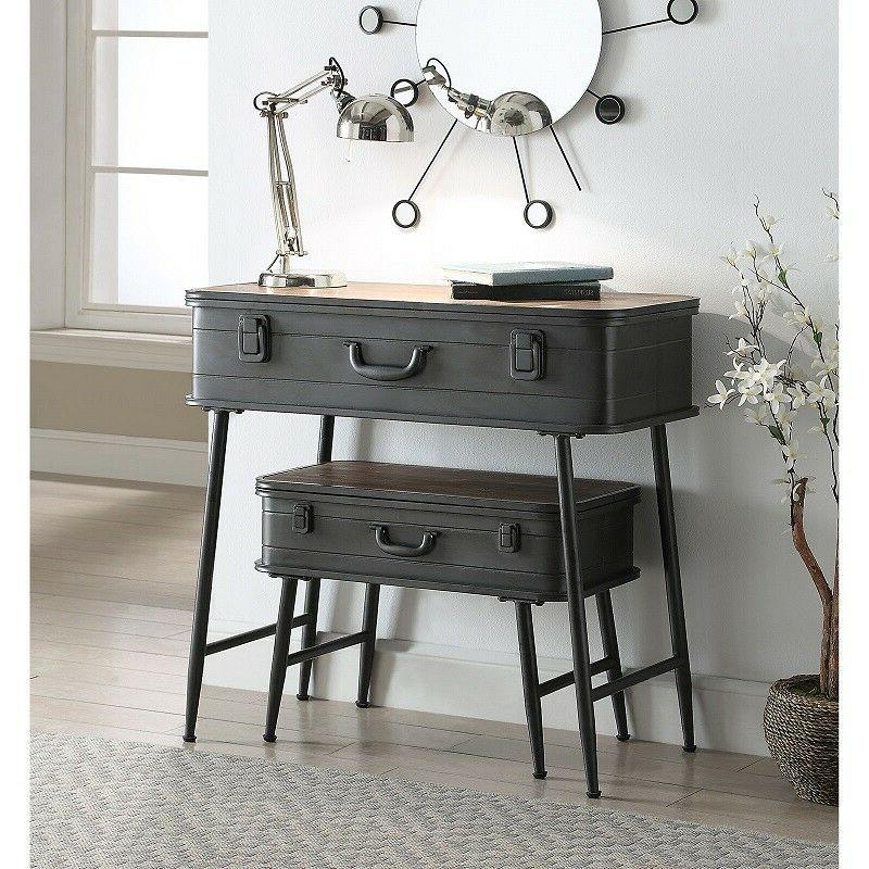 Farmhouse Table Set Console Sofa Accent Trunk Style Industri