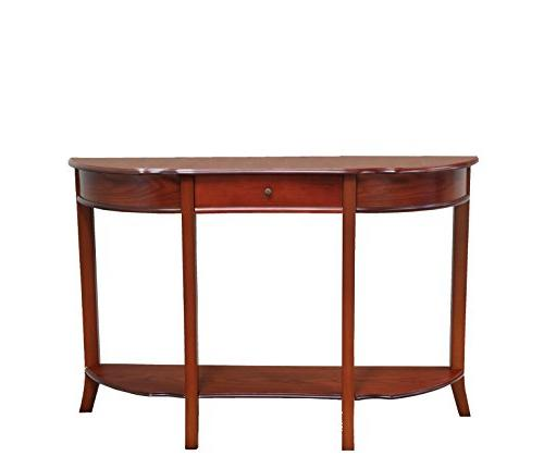 Frenchi Sofa Table with Drawer, Walnut