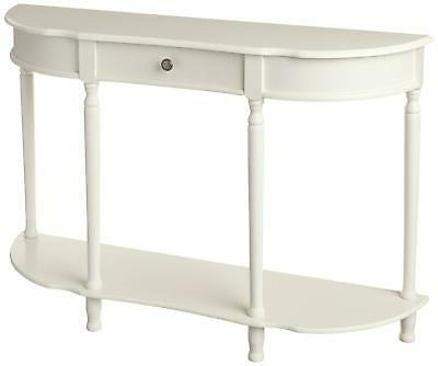 Frenchi Home Furnishing Console Sofa Table with Drawer, Whit