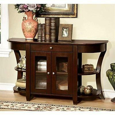 Furniture of America Cartwright Transitional Console Table, Cherry