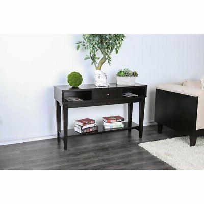 Furniture of America Deyon Espresso Console Table